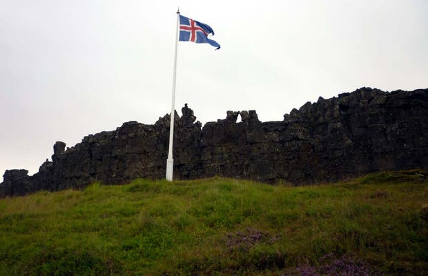 "The ""law rock"" en Pingvellir"