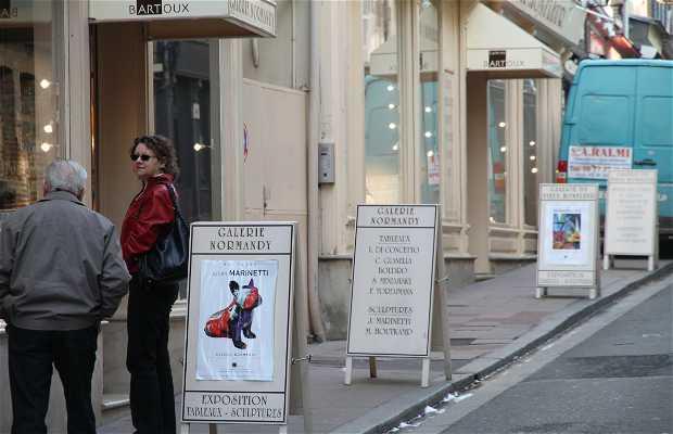 Las galerías de arte de Honfleur
