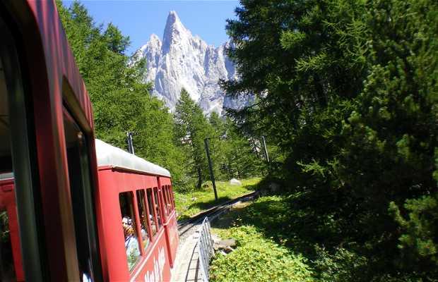 Tren cremallera del Mont Blanc