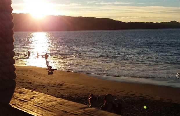 Atardecer en Playa de Valdivia