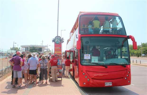 Bus turístico en Cartagena