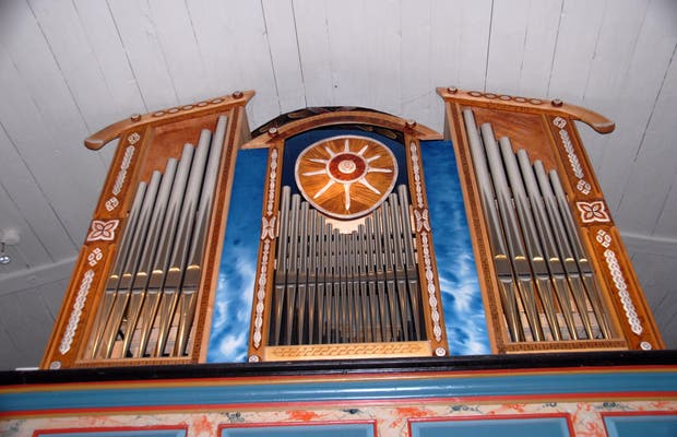 Jukkasjärvi (Kiruna) Iglesia Sami de madera
