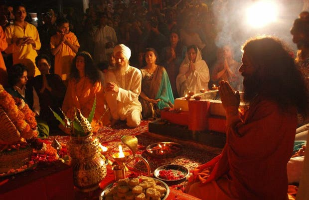 Ganga Aarti Ceremony In Parmarth Niketan Ashram