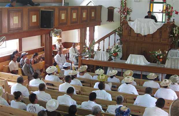 Misa de domingo en Rarotonga