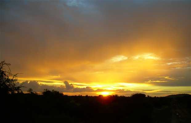 Coucher de soleil à Itag