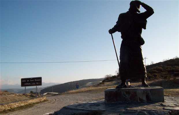 Route de santiago Section de la route Français Galicien