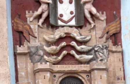 The upper door Daroca