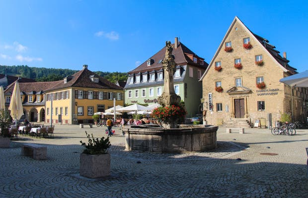Plaza del Mercado de Weikersheim