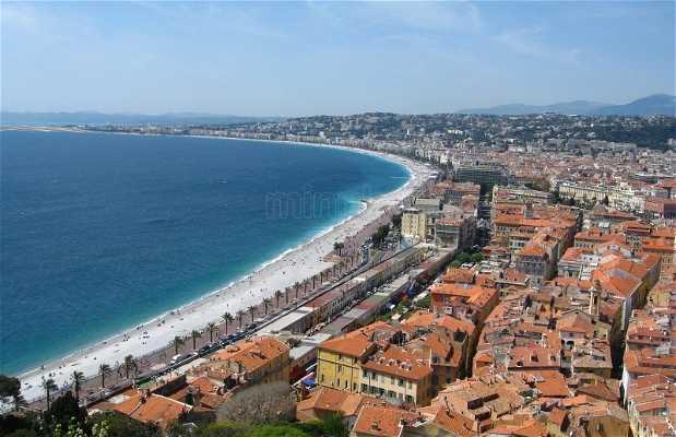 La collina del castello a Nizza