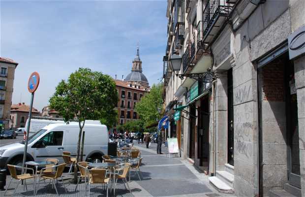 The Cebada Square in la Latina