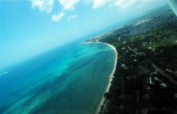 Dar es Salaam desde el aire