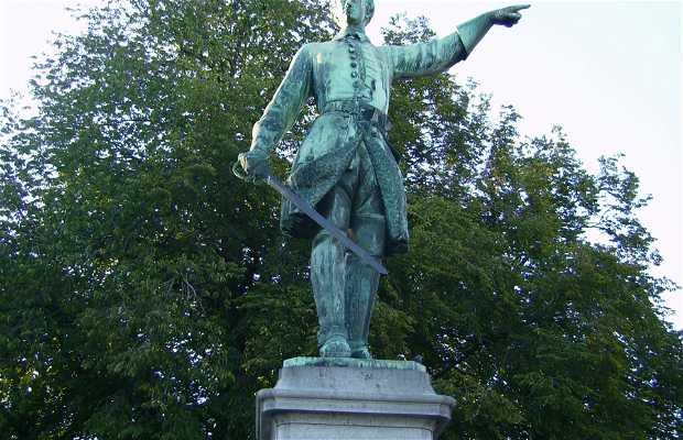 Estatua a Karl XII en Kungsträdgarden