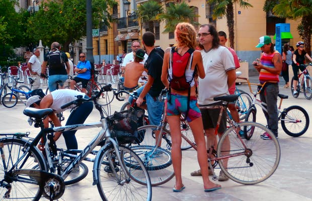 Concentration of bikes in Valencia