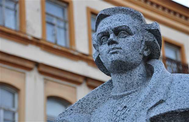 Escultura a Tarasas Sevcenka