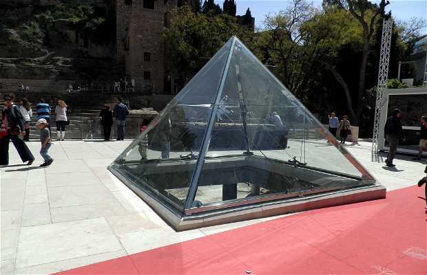 The Glass Pyramid on Alcazabilla Street
