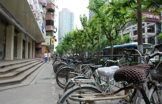 Bicyclettes à Shanghai