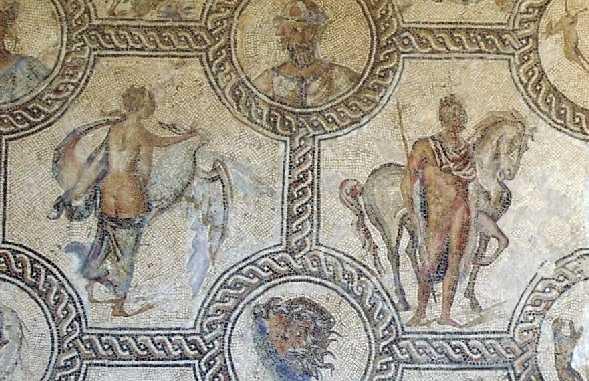 The triumph of Bacchus mosaic