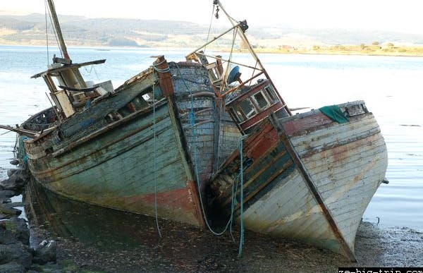 Los barcos varados
