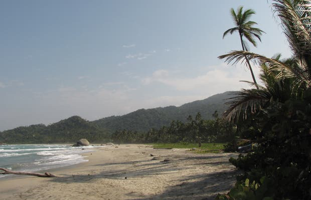 Praia do Parque Nacional Natural Tayrona
