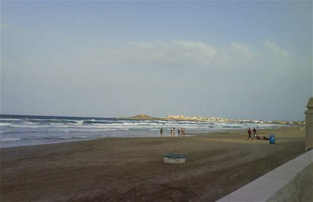A praia de Cartagena