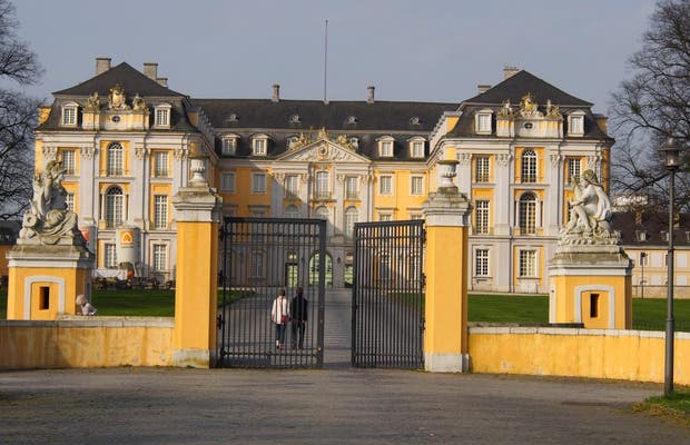 The palace of Augustusburg and Falkenlust in Brühl