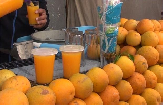 Puesto zumo de naranja