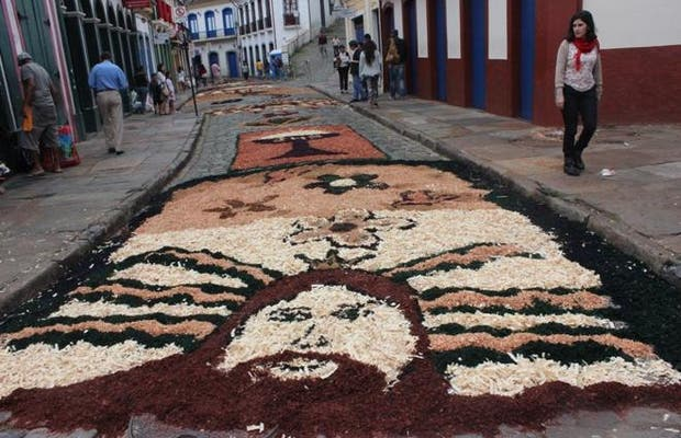 Tapetes de Serragem - Semana Santa Ouro Preto