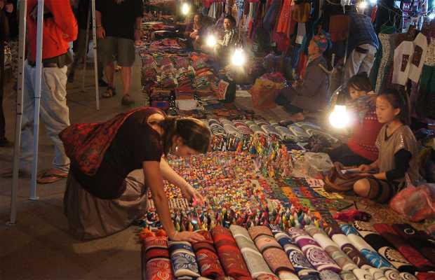 Mercadillo nocturno de Luang Prabang