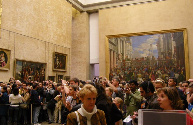 The Mona Lisa in the Louvre Museum
