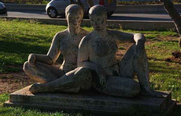 estatuas de las amantes