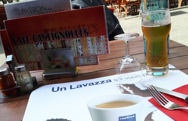 Bar Braserie Castignolles, Mirepoix, Francia.