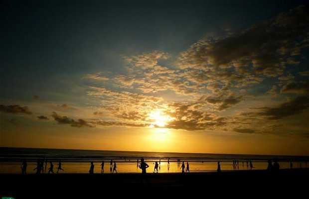 Por do sol em Kuta