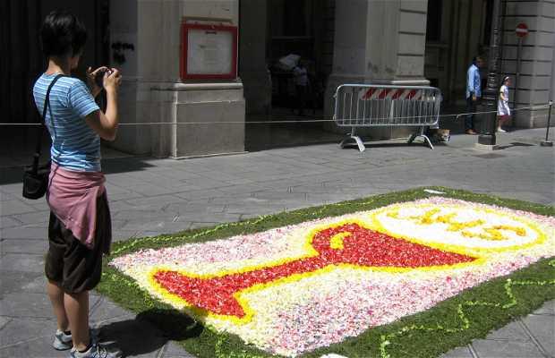 Tapis de fleurs à Chieti