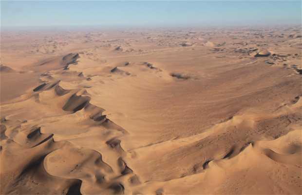 Désert de Namibie depuis les airs