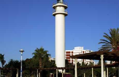 Los faros de Torre del Mar