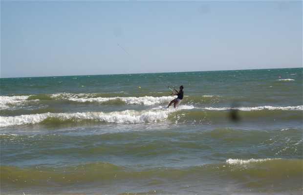 Kitesurf playa Isla Canela