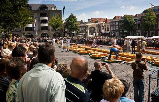 Marché de fromage d'Alkmaar
