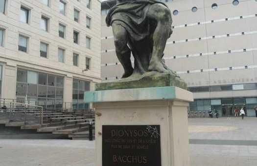 La statue de Bacchus