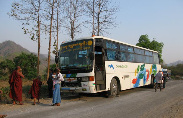 Bus from Shan State to Yangon