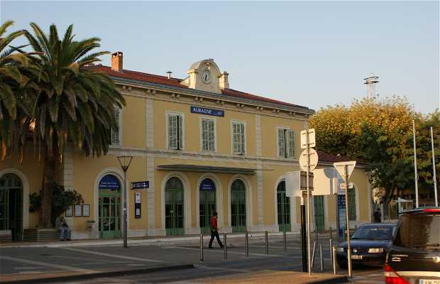 La gare d'Aubagne