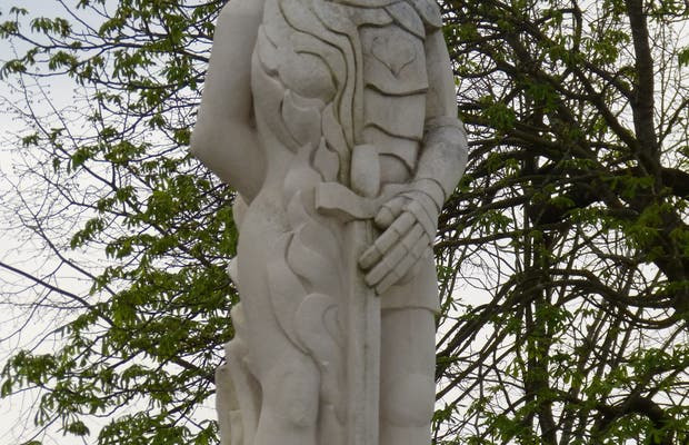 Escultura guerrero Plaisance