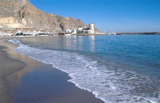 La playa de Aguadulce